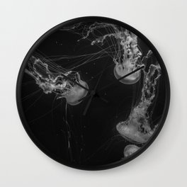 Jellyfish (Black and White) Wall Clock