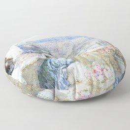 Myles Birket Foster - The Alhambra, Granada, Spain - Digital Remastered Edition Floor Pillow