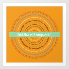Buddha of Compassion Art Print