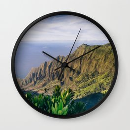 Na Pali Coast Kauai Hawaii Printable Wall Art | Tropical Beach Nature Ocean Coastal Travel Photography Print Wall Clock