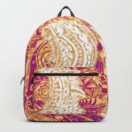 Samoan Splendor Tribal Print Backpack