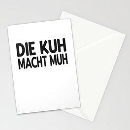 Kuh lustiger Spruch Stationery Cards