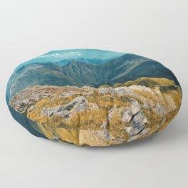 Amazing Italian Alpine View Point Scenery Floor Pillow