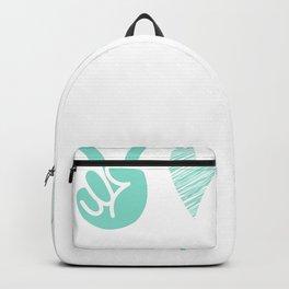 Coronavirus Pandemic Peace Love Mask Backpack