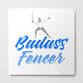 badass fencer Metal Print
