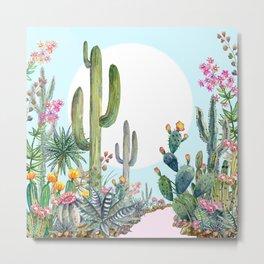 cactus path 1 Metal Print