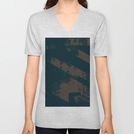 Abstract_Blue Unisex V-Neck