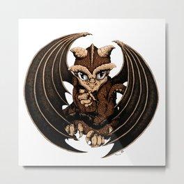 Terra- Earth Dragon Metal Print