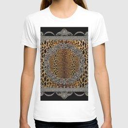 Baroque Leopard Scarf T-shirt