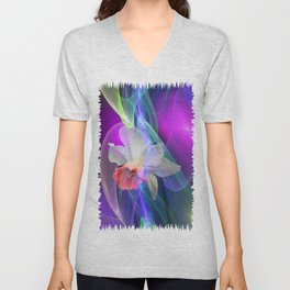 Dreamy Spring with Daffodils Unisex V-Neck