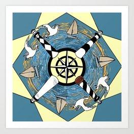 OBX Lighthouse Mandala Art Print