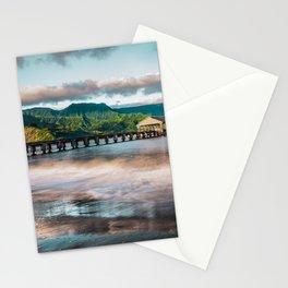 Hanalei Pier Kauai Hawaii Stationery Cards