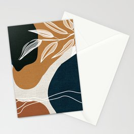 Leafy Lane in Navy and Tan 3 Stationery Cards