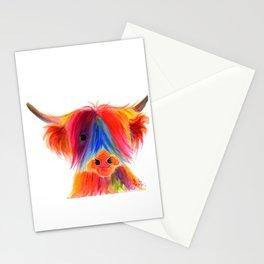 Scottish Highland Cow ' PANCAKE ' by Shirley MacArthur Stationery Cards
