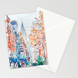 Lexington Avenue, Manhattan, New York, Watercolor painting Stationery Cards
