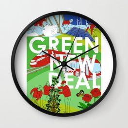 Green New Deal Wall Clock
