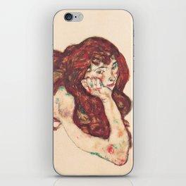 """Egon Schiele """"Auf dem Bauch liegender weiblicher Akt"""" iPhone Skin"""