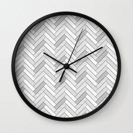 black and white geometric pattern, graphic design Wall Clock
