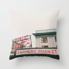 Pikes Place- Seattle Throw Pillow