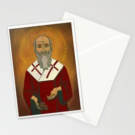 Santa Has No Time For Your Commercialism Stationery Cards