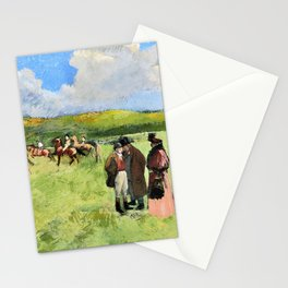 The Race Track - Jean-Louis Forain Stationery Cards