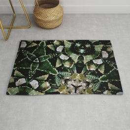 Succulents on Show No 1 Rug