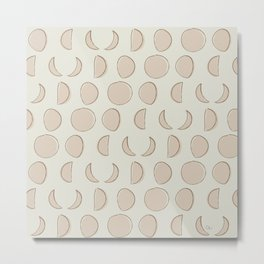 Phases of the Moon Pattern Metal Print