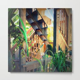 Back Stairs - From Inside Metal Print