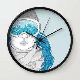 snowboarder girl Wall Clock