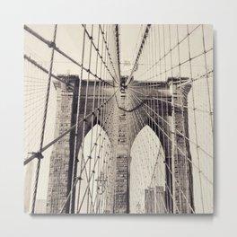 Brooklyn bridge, New York city, black & white photography, wall decoration, home decor, nyc fine art Metal Print