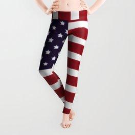 USA Star Spangled Banner Flag Leggings
