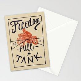 Freedom biker print Stationery Cards