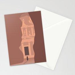 Siq Entrance to the Treasury, Petra, Jordan Stationery Cards