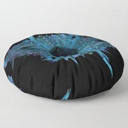 Blue eye - fractal Floor Pillow