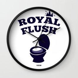 Poker toilet toilet flush funny gift Wall Clock