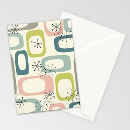 Mid Century Modern Shapes #society6 #buyart Stationery Cards
