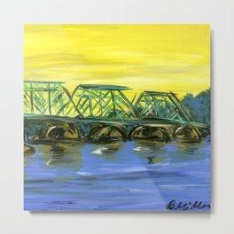 New Hope-Lambertville Bridge Metal Print