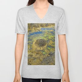 Watercolor Algae, Bladder Wrack 03, Nova Scotia, Canada, Above the Tide Unisex V-Neck
