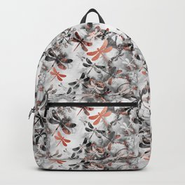 Dragonfly Lullaby in Marble and Rose Gold Backpack
