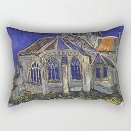 The Church at Auvers by Vincent van Gogh Rectangular Pillow