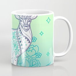 Deer and Flower Coffee Mug