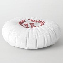 Rustic Red Monogram: Letter H Floor Pillow