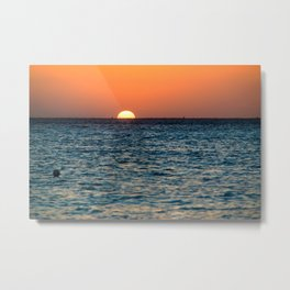 Isla Mujeres Sunset Metal Print