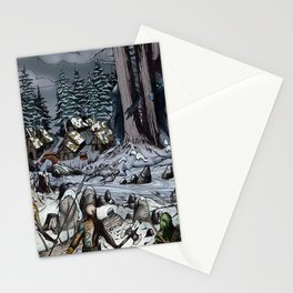 The Snow-Bound Village Stationery Cards