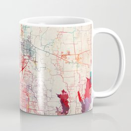 McKinney map Texas painting Coffee Mug