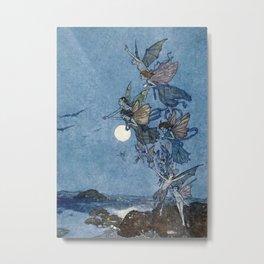 """Elves"" Fairy Tale Art by Edmund Dulac Metal Print"
