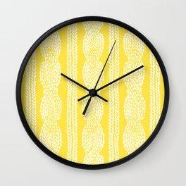 Cable Row Yellow Wall Clock