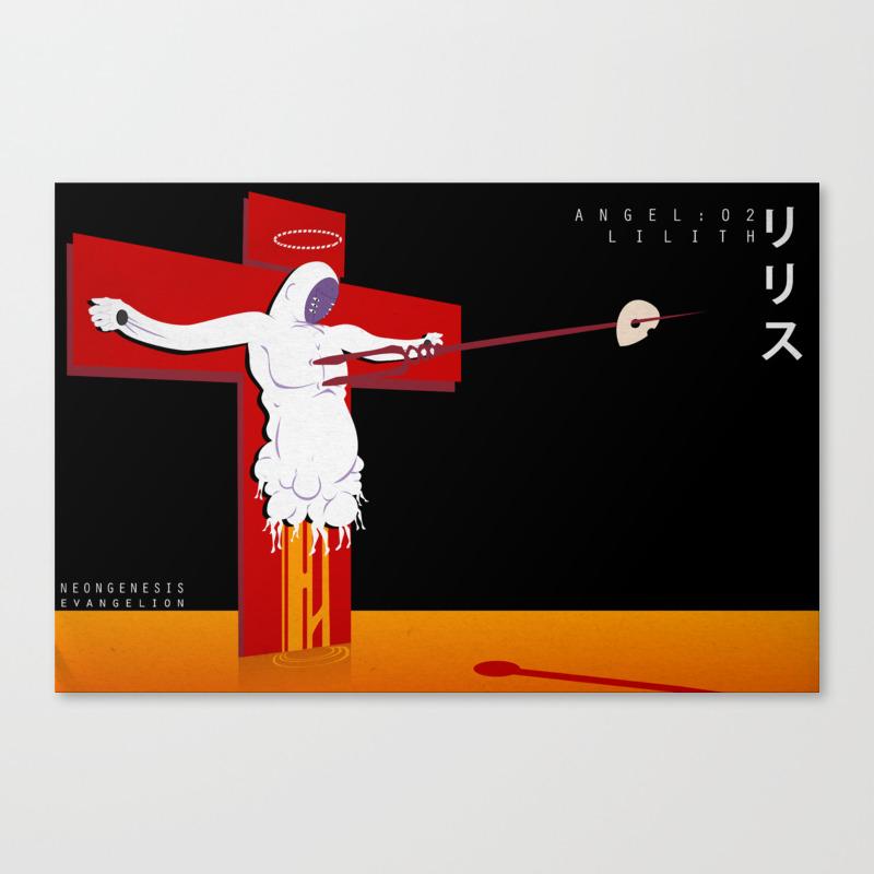 Neon Genesis Evangelion Angel 02 Lilith Canvas Print By Mnm Studios Society6