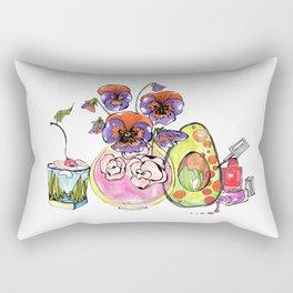 Avocado, Pansy and Valentino Rectangular Pillow