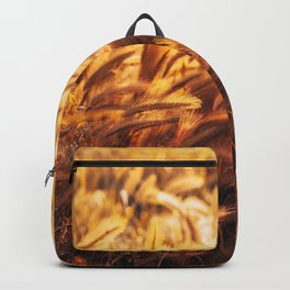 golden wheat field Backpack